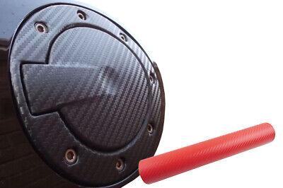 Auto PKW Design Folie Set in Carbon Rot Premium Tankdeckel Tank Deckel