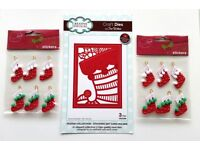Creative Expressions Sue Wilson Christmas Stocking Die NEW Papercraft Home Decor Scrapbooking