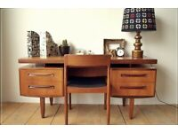 Vintage mid-century original G-Plan desk
