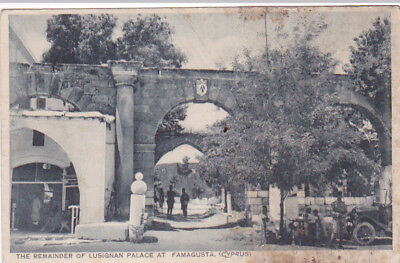 CYPRUS POSTCARD FAMAGUSTA THE REMAINDER OF THE LUSIGNAN  PALACE MANGOIAN 1920 s