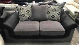 Grey fabric large 2 seater sofa