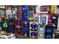 FULL RANGE OF BLUETOOTH SPEAKERS WITH MICROPHONE