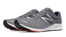 New Balance  Men's Speed Vazee Prism Running Shoes, Grey with Red - MPRSMGR
