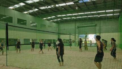 Free 2-game Trial of Indoor Beach Volleyball, Solo or Team.