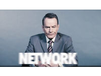 2 tickets for Network tonight with Bryan Cranston at National Theatre Mon 19th February