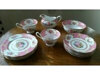 Royal Albert Lady Carlyle 14 Piece Tea Set(Vintage)