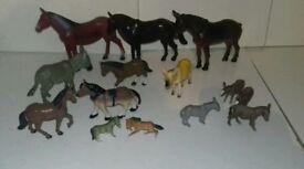 Toy Animal Horses & Donkey's
