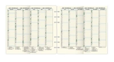 Day-timer 2021 Full Year Schedule Sheet Loose-leaf Folio Size 8-12 X 11