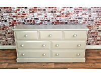Solid Pine Chest of Drawers / Bedroom Dressing Table Three-over-Four - Any Farrow & Ball Colour!