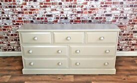 Large Pine Chest of Drawers / Bedroom Dressing Table Three-over-Four - Any Farrow & Ball Colour!