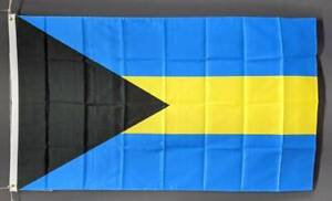 Bahamas flag (The Bahamas) printed polyester. 150 x 90 cm/ 5x3'. New Marrickville Marrickville Area Preview