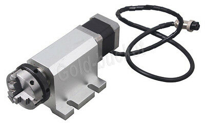 Router Rotational Rotary A-axis 4th-axis 50mm Chuck For Cnc Engraving Machine
