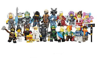 Lot 20PCS NINJAGO MOVIE SERIES COMPLETE SET MINIFIGS NEW Minifigure LEGO 71019 - Ninjago Toy Weapons
