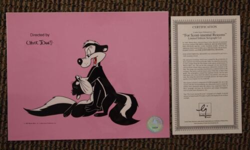 "S/O Warner Bros Pepe Le Pew ""For Scent-i-mental Reasons"" Cel UF Penelope Romance"