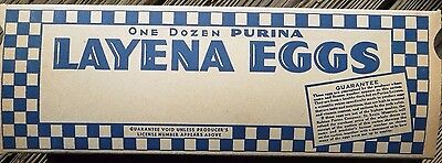 12 1950s Layena Egg Cartons