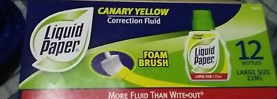Liquid Paper Correction Fluid 22 Ml Canary Yellow 12 Bottles Free Shipping