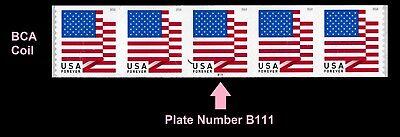 US Flag forever PNC5 BCA B111 MNH 2018