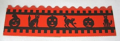 Antique Halloween Paper Party Hat JOL Black Cats  Tissue Paper USA Clean!  T99 (Halloween Party 99)