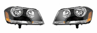 2008 - 2014 DODGE AVENGER HEADLIGHT HEADLAMP RT MODEL LEFT AND RIGHT PAIR SET