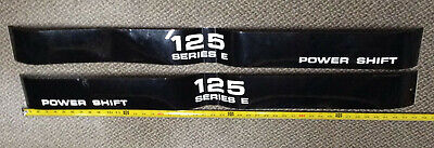 International 125e Crawler Dozer Power Shift Oem Decals - Ih 125 Series E Decals