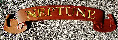 Custom-Carved Wooden Name Board; nautical, boat, home, office door sign, 3D wood