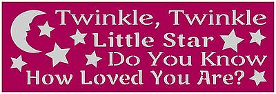 Primitive Stencil For Signs  Twinkle Twinkle Little Star  Nursery  Baby   267