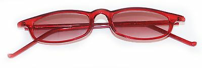 Reading Glasses Tinted Sunglasses Beach Readers Bright Red Polished Frame +2.50 ](Beach Reading)