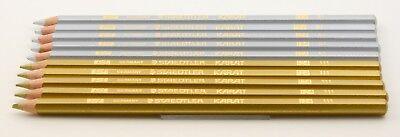10 Staedtler Karat 124 81 111 Gold & Silber Buntstift colored pencil gold silver