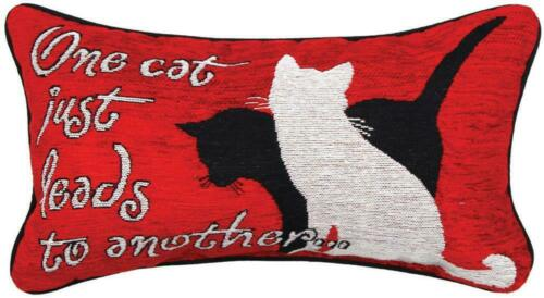 """KITTY TALK"" ONE CAT.. RECTANGLE PILLOW"