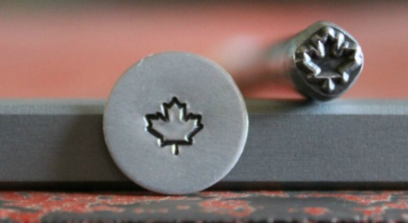 SUPPLY GUY 5mm Fancy Maple Leaf Metal Punch Design Stamp SGA-38, Made in the USA