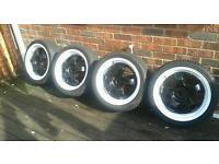 Rota d2 7.5 x17 alloy wheels 5x114.3 lexus mr2 supra skyline 200sx jdm drift