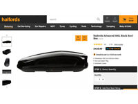 Halfords Advanced 580L Black Roof Box