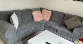 1 Year Old Grey Corner Sofa - Excellent Condition