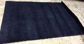 LOVELY DARK BLUE/BLACK THICK RUG - MINT CONDITION - £20