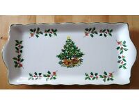 CHRISTMAS PLATE - IDEAL FOR YULE LOG OR MINCE PIES - BOXED