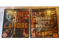 PS3 Grand Theft Auto 5 & LA Noire
