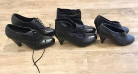 3 Pairs of Brand New Boots with heels