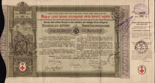HUNGARY Red Cross Bond dd 1882 Budapest