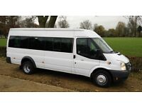 10 SEATER to 16 SEATER MINIBUS HIRE WITH DRIVER - CALL 0203 633 4226