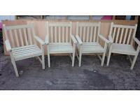 4 garden chairs .