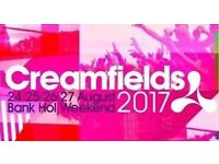 Silver 3 day creamfields tickets 2017
