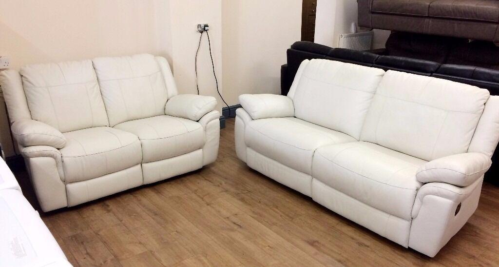 Cream Leather Recliner Sofa Cream Leather Recliner Sofa 55