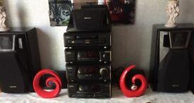 Technics multi disc player with surround sound