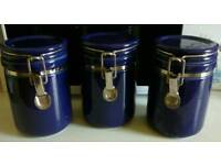 3 Whittard of Chelsea storage jars
