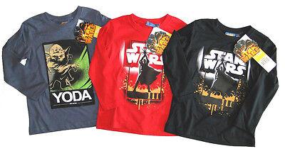 NEU Star Wars Langarmshirt für Jungen Shirt Skywalker Yoda 98 - 128