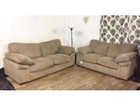 New Harvey's jumbo cord 3+2 seater sofas**Free delivery**