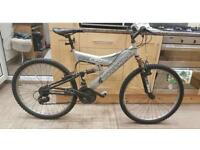 """Shockwave 550 mountain bike. 18"""" Frame. 26"""" wheels. Pedal is taped. Fully working"""