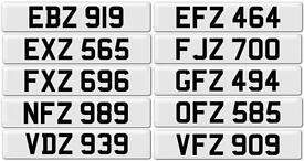 3x3 Digit Personalised Dateless Number Plates BMW AUDI MERCEDES VW VOLKSWAGEN M3 M4 M5