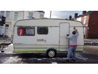 vintage caravan - handmade 1980 Bailey Mikado C - retro project