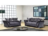 -AMAZING OFFER WOW-3 AND 2 SEATER SOFA IN BLACK AND GREY CORNER SOFA ALSO AVAILABLE